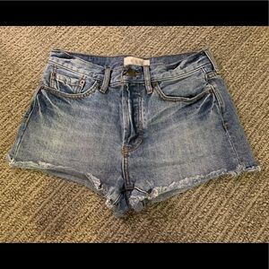 Free People denim shorts, size 2-4 (26 waist)